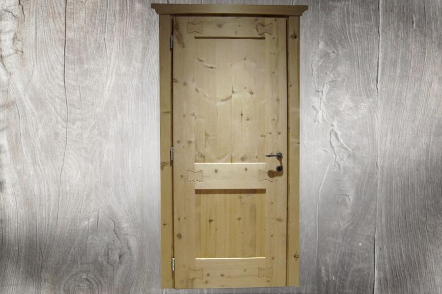Porta in Pino Cembro Anticato Standard 2 pannelli
