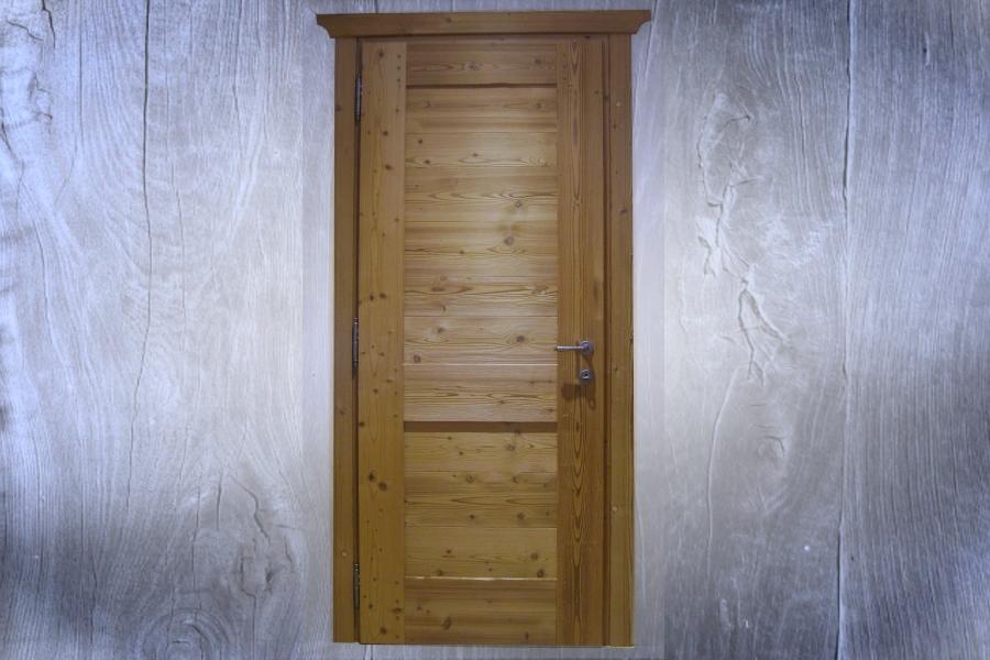 Porta in abete massello termotrattato standard a 2 pannelli for Baite in legno da 2 letti in vendita