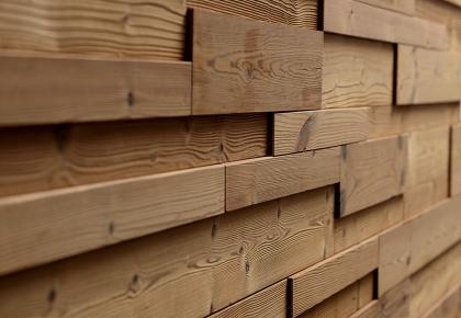 Rivestimento in legno da parete con superficie irregolare for Piastrelle da parete