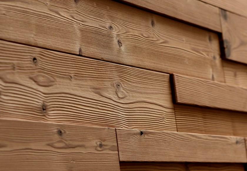 Rivestimento in legno da parete con superficie irregolare nuova linea di prodotti - Tavole adesive per pareti 3d ...