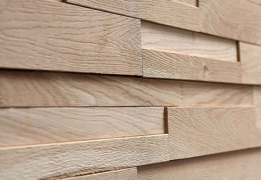 Rivestimento in legno da parete con superficie irregolare nuova